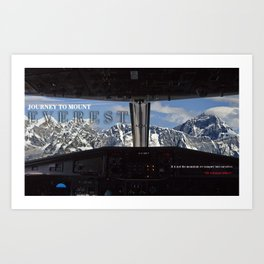 MOUNT EVEREST 001 Art Print