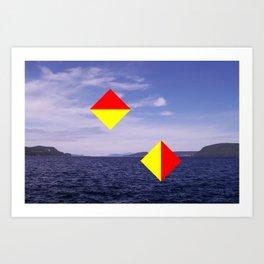 Signal Flare - Disregard Art Print
