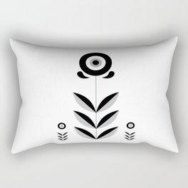 Retro Nordic Black & White Rectangular Pillow