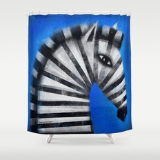 STRIPED PROFILE Shower Curtain