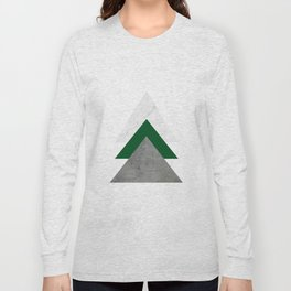Marble Green Concrete Arrows Collage Long Sleeve T-shirt