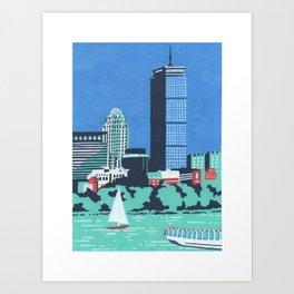 Charles and the Pru - Boston Landmarks Art Print