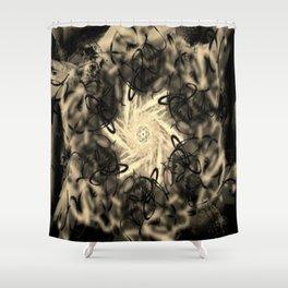 Primal Typhoon Shower Curtain