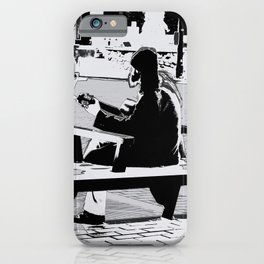 Busking - Guitar Player iPhone Case