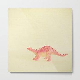 Pink Dinosaur Metal Print
