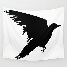 Ragged Raven Silhouette Wall Tapestry