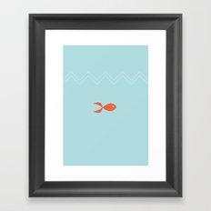 Red fish Framed Art Print