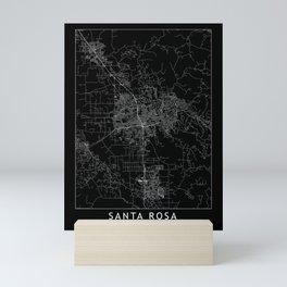 Santa Rosa Black Map Mini Art Print