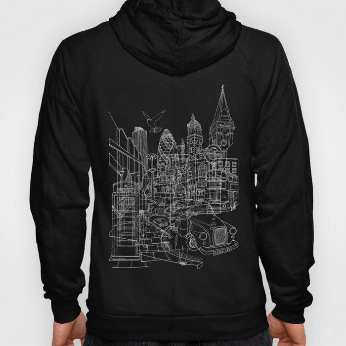 London! Dark T-shirt version Hoody