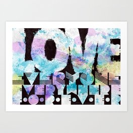 Love everyone print Art Print