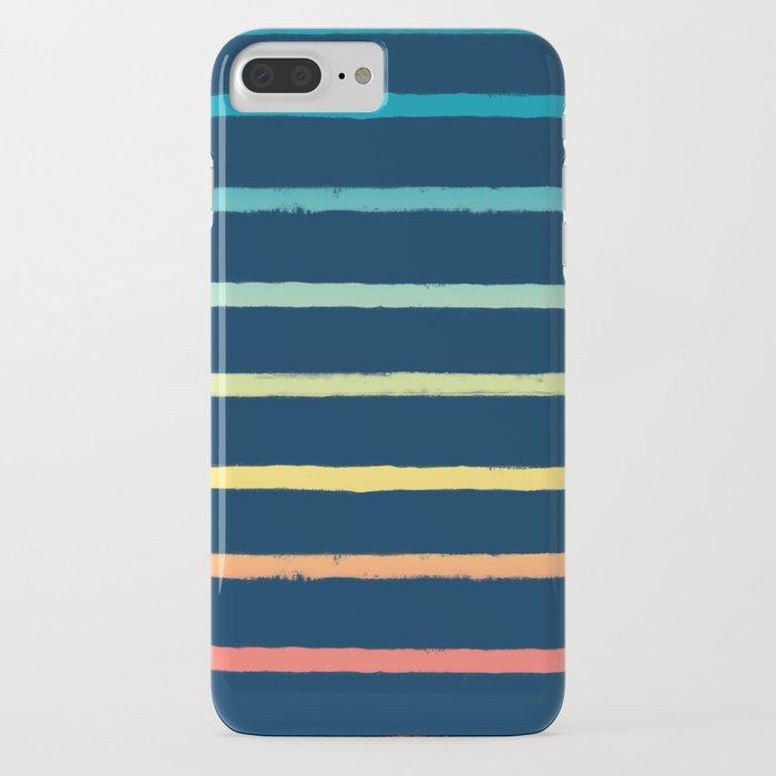Blue Festival Rainbow Stripe iPhone Case