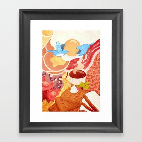 Ode to Breakfast Framed Art Print