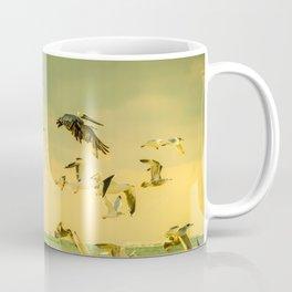 Golden Flight In Color Coffee Mug