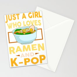 Ramen Lover K-pop Fanatic Foodie Funny Asia Gift Stationery Cards