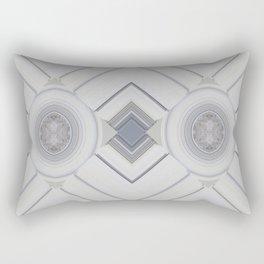 Classic Multi pattern White Grey Blue Design Rectangular Pillow