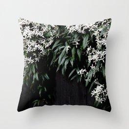 Clematis Armandii Throw Pillow