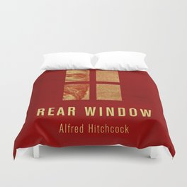 REAR WINDOW - Hitchcok Poster Duvet Cover