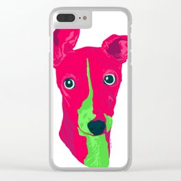 italian greyhound - wht Clear iPhone Case