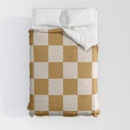 checks –gold and tan Comforters