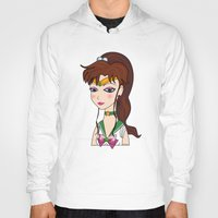 sailor jupiter Hoodies featuring Lady Sailor Jupiter by Pendientera