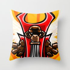 Winged Primate  Throw Pillow