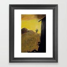 Just an Ol' Cowboy Framed Art Print