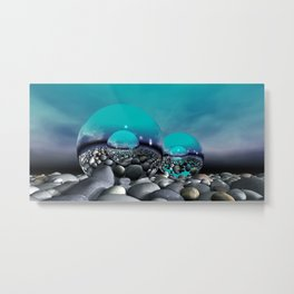 refraction of light - turquoise Metal Print