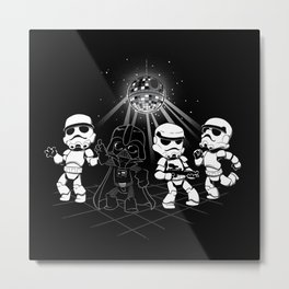 Dark Side Disco Dancing Metal Print