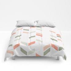 Geometric Confetti (Rose Garden) Comforters