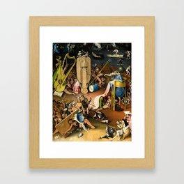 The Garden of Earthly Delights - Bosch - Hell Bird Man Detail Framed Art Print