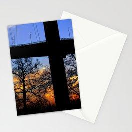 bridge and sunset Stationery Cards