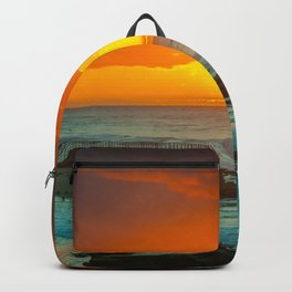 Sunset over childrens pool Backpack