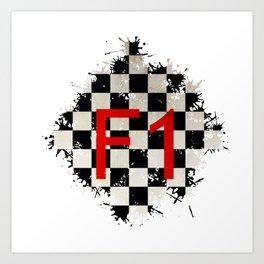 The Chequered Splatter Art Print