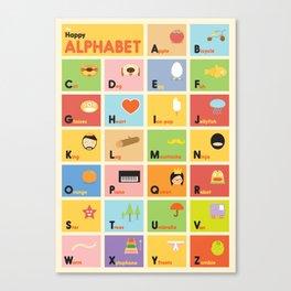 The Happy Alphabet Canvas Print