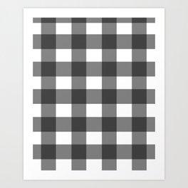Gingham Plaid Pattern Art Print