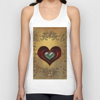 hearts Tank Tops featuring Hearts by nicky2342