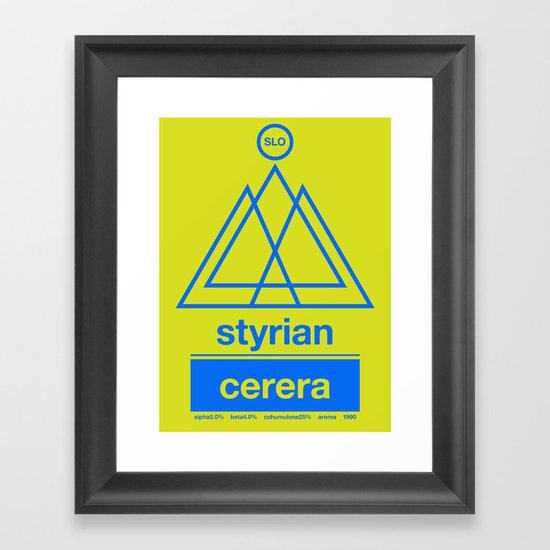 styrian cerera single hop Framed Art Print