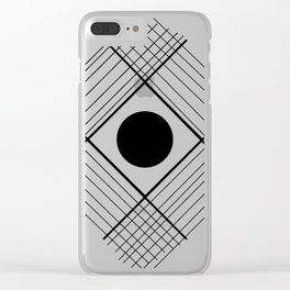 Interlaced Lines Clear iPhone Case
