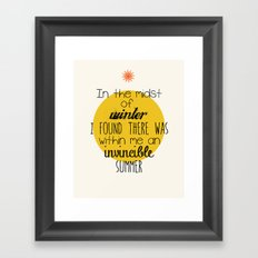 In The Midst of WinterModern Poster  Framed Art Print