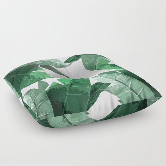Tropical Palm Print Floor Pillow