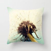 coconut wishes Throw Pillows featuring wishes by Beverly LeFevre