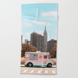 New York Ice Cream Beach Towel