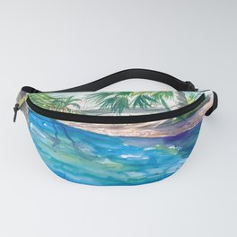 Magic Blue Pool in Remote Key West Florida Fanny Pack