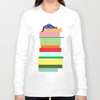 climbing Long Sleeve T-shirts featuring Climbing Dog by Benjamin Cooper