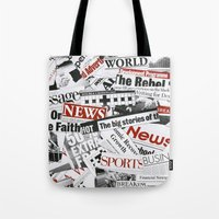 daenerys Tote Bags featuring News Branded by bimorecreative