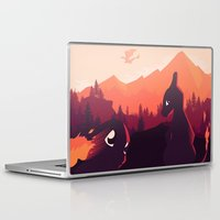 charizard Laptop & iPad Skins featuring Poke-mon Charizard Vector minimalist Poster  by LoweakGraph