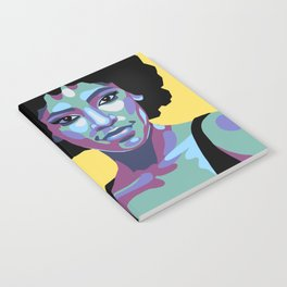 Flat bold portrait of a woman Notebook