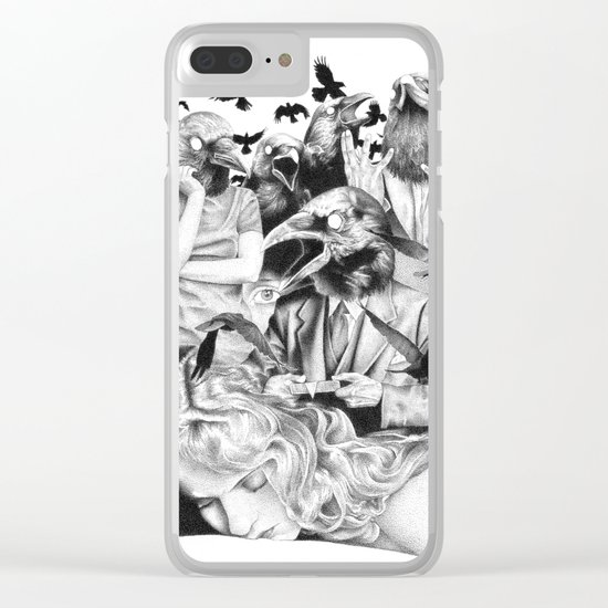 Ominous Farewell Clear iPhone Case