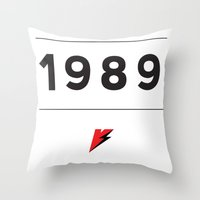 1989 Throw Pillows featuring My Story Series (1989) by Viral Status