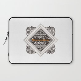 Wash your Hands - Stamp Laptop Sleeve